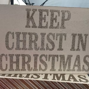 NWT Keep Christ In Christmas Wooden Decor